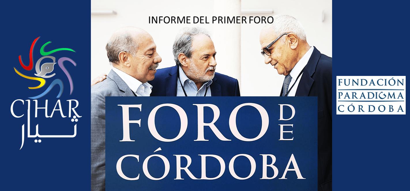 INFORME DEL PRIMER FORO DE CÓRDOBA
