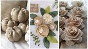 Квіти та декор з мішковини: 17 ідеї для творчості
