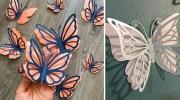 Створюємо об'ємних метеликів із паперу. Шаблони для вирізання