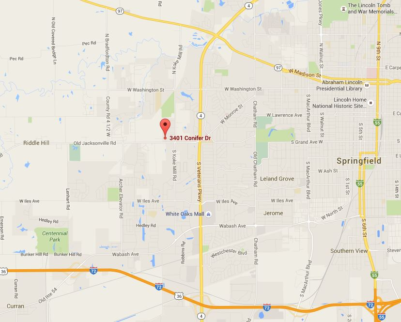 Google Maps screenshot of our Springfield location