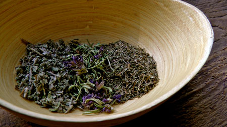 brew thyme in water.. photo credit : herbs.com