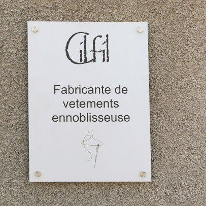plaque d'entrée