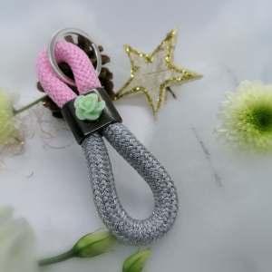 double porte clef argent et rose