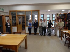 The group in the Alcuin Wing reading room.