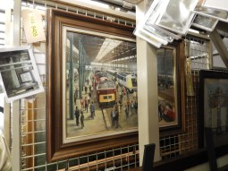 The painting vault has a lot of paintings which used to be hung on trains or in stations