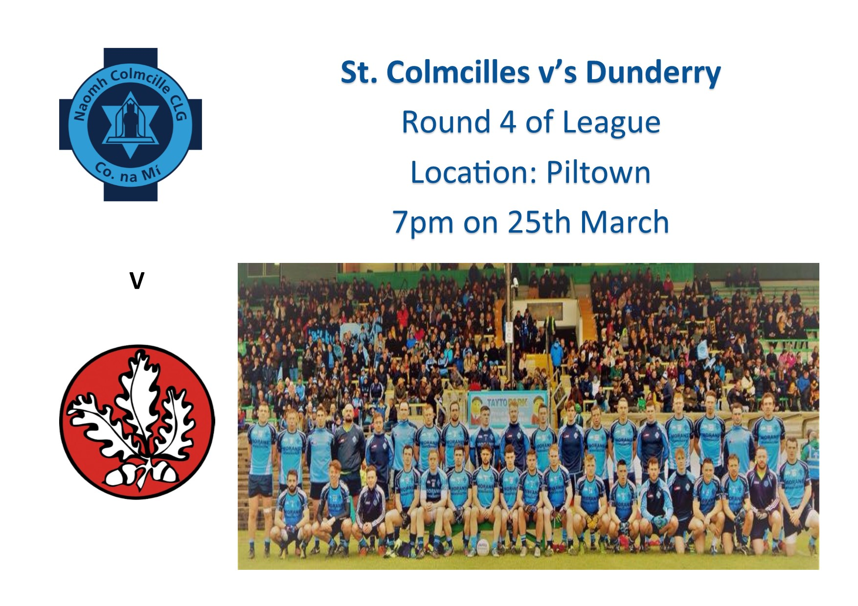 St. Colmcilles Seniors v's Dunderry League Round 4