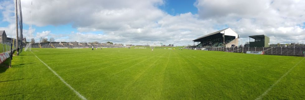 Perfect conditions for a game in Pairc Tailteann - apart from a very gusty wind!