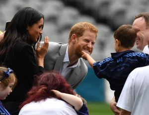 One Of Our Members Charming Prince Harry And Meghan Markle In Croke Park TodayCaptured By Ian Vogler