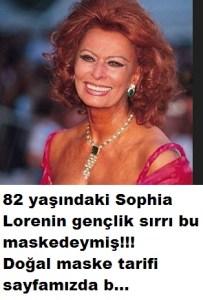 Sophia Lorenin gençlik maskesi tarifi