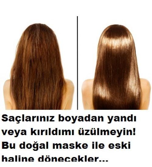 saç yanması için doğal reçete