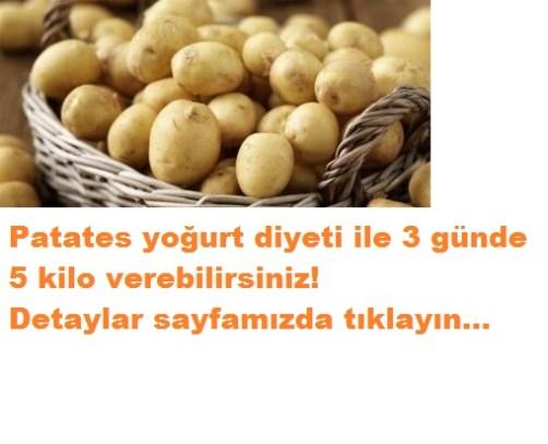 patates diyetiyle 3 günde 5 kilo verin
