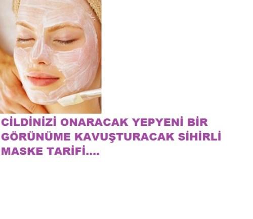 cildinizi onaran sihirli maske tarifi