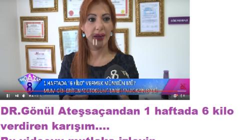 1 HAFTADA 6 KİLO VERDİREN DETOKS