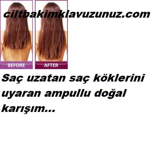Saç uzatan ampullu karışım