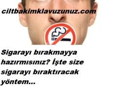 Sigarayı bıraktıracak en etkili yöntem
