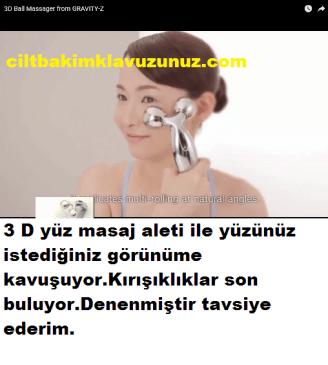 3 D Masaj Aleti İle Yüzünüz İstediğiniz Şekle Kavuşuyor