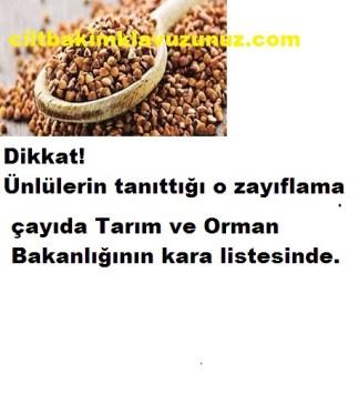 Ünlülerin Tanıttığı Çayda Tarım Bakanlığının Kara Listesinde