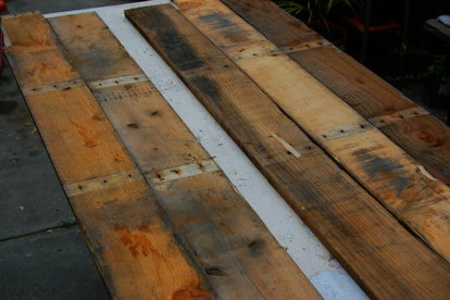 Upcycle Pallets Into a Wood Floor   DoItYourself com Upcycle Pallets Into a Wood Floor  FarOutFlora