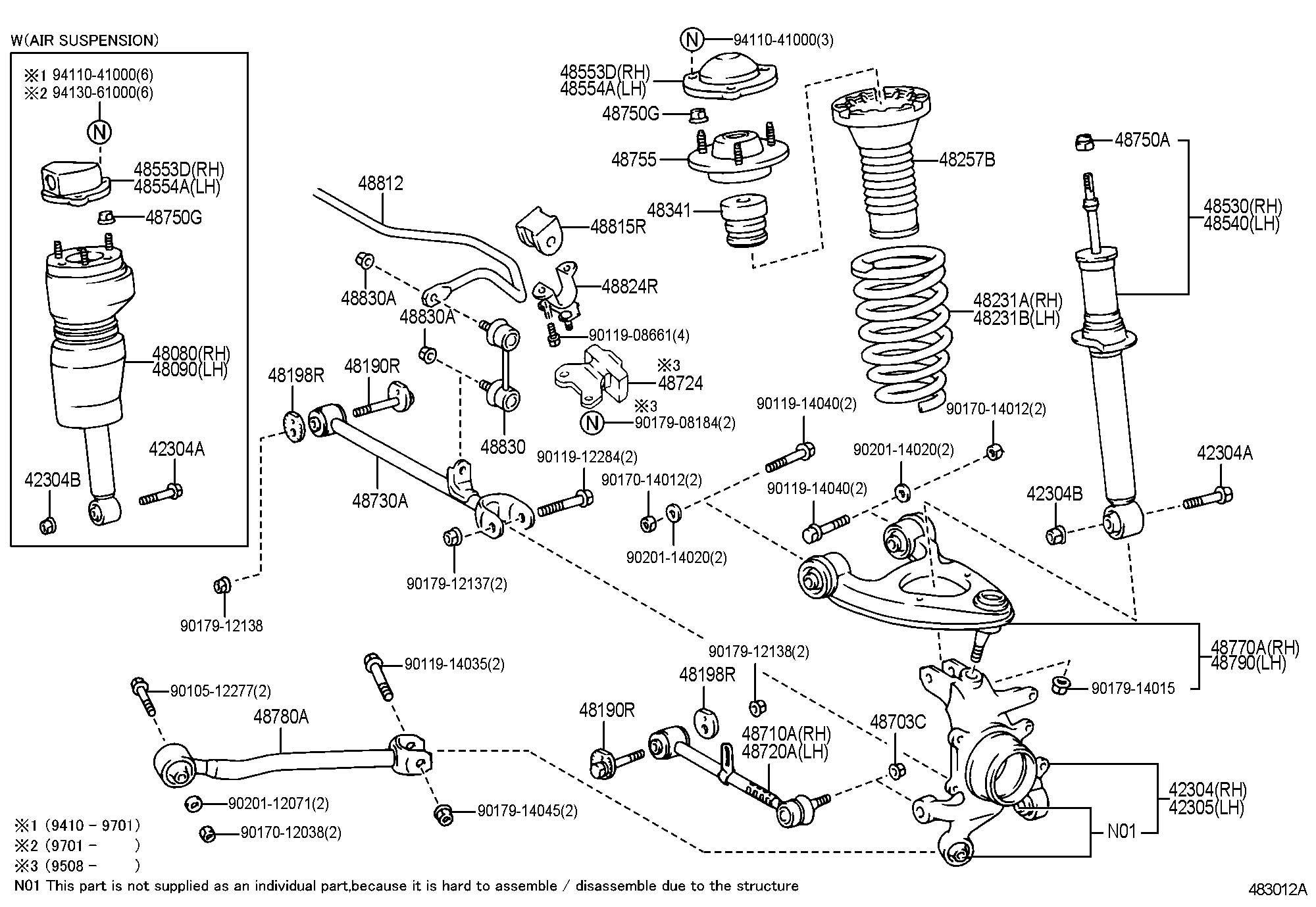 Rear Suspensiom Replacement Ls400 94