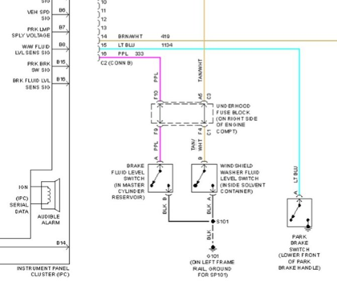 park brake wiring diagram  corvetteforum  chevrolet