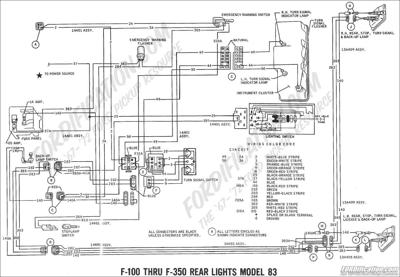 Ford F100 Alternator Wiring Diagram