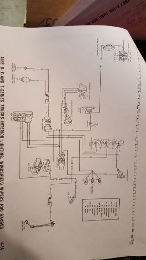 1966 F100 Instrument Cluster Wire Diagram  Ford Truck