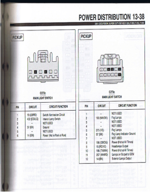 wiring pinout for 9900 and 0107 headlight switch  Ford Truck Enthusiasts Forums