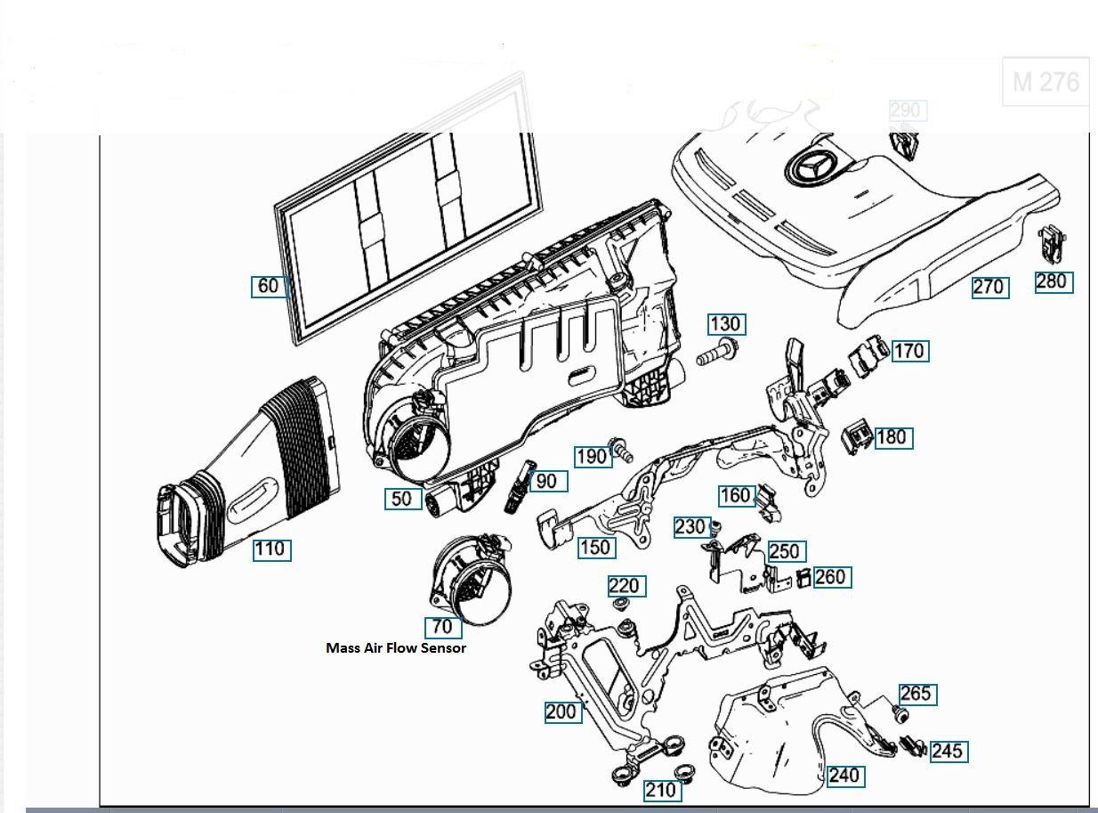 Ml350 W166 Flex Fuel Mass Air Flow Sensor