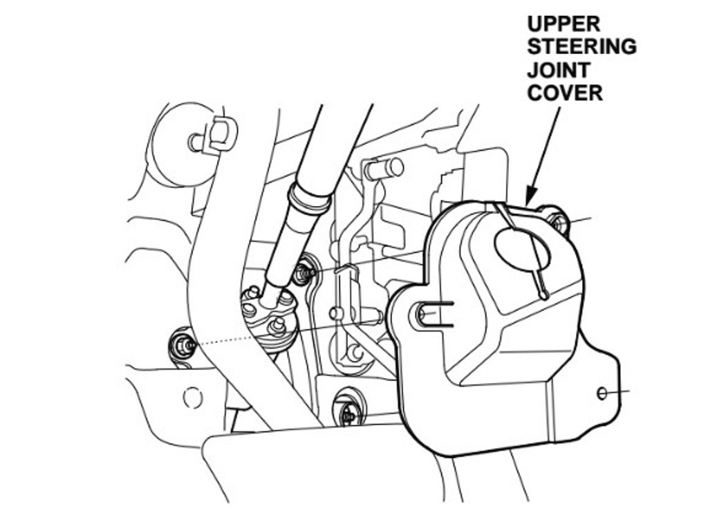 Remove the lower steering joint cover