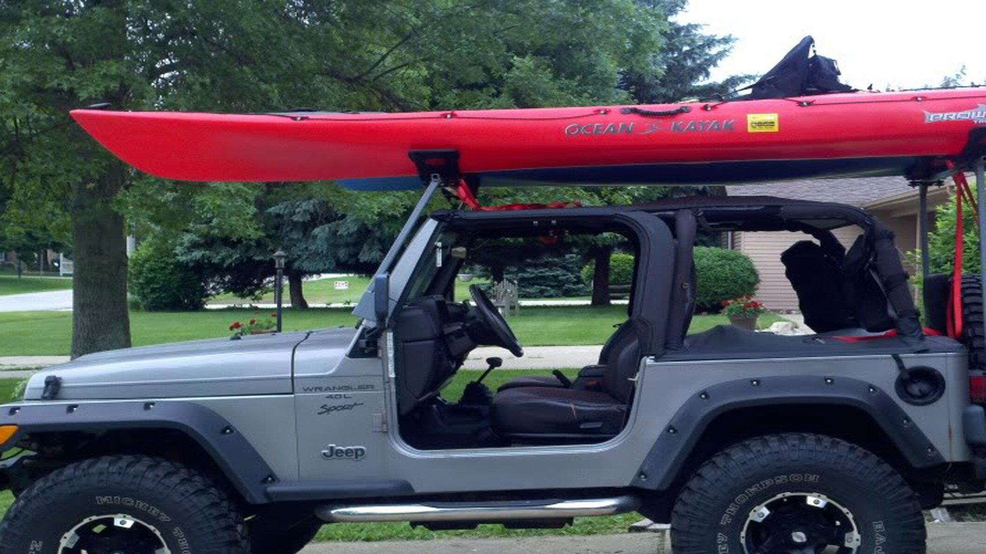 install canoe kayak rack on soft top