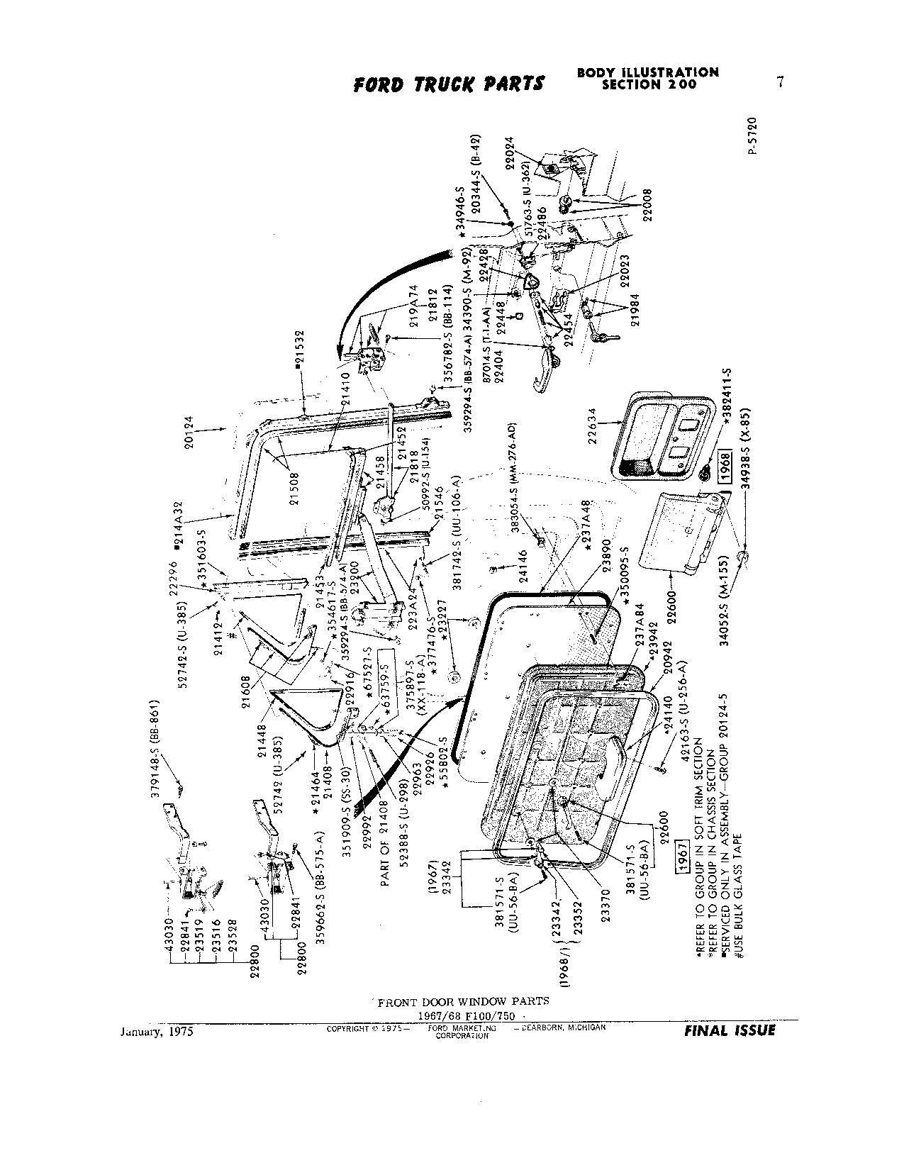 F100 Vent Window Gasket