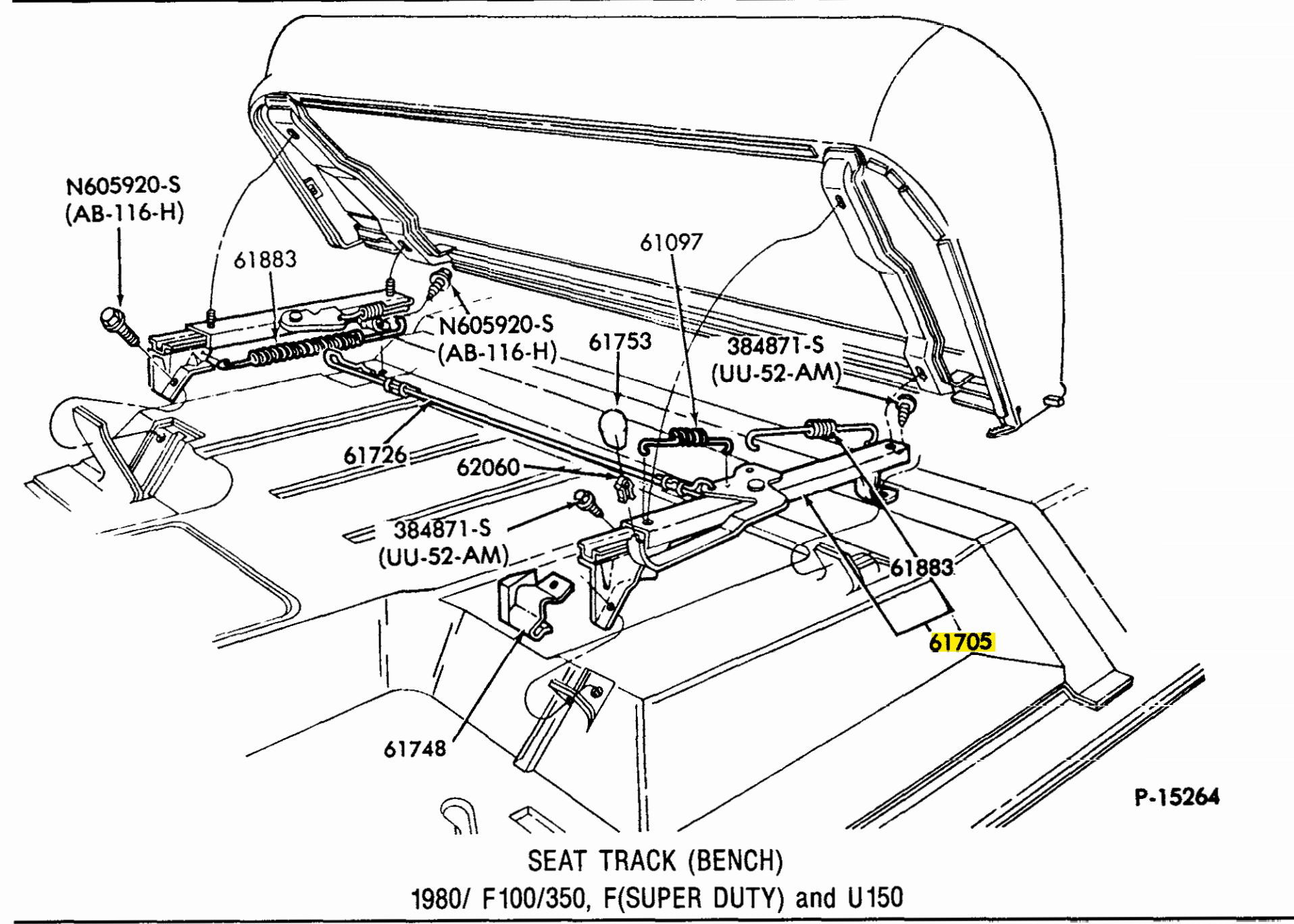 Ford Bronco Front Seat Parts Diagram