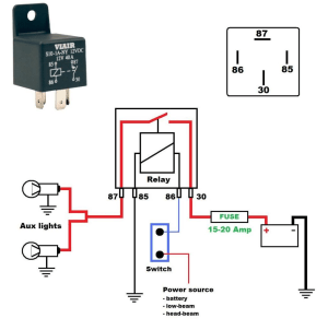 Wiring diagram for a 12V 40 Amp relay  Harley Davidson Forums