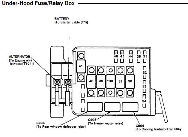 fuel pump wiring diagram  hondatech  honda forum discussion