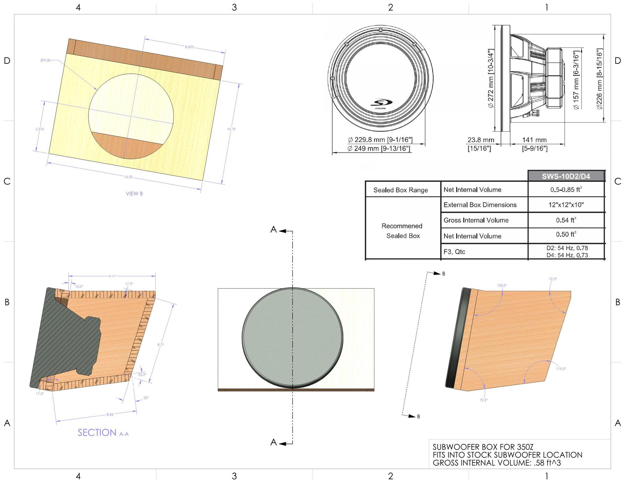 Folded Horn Design Subwoofer Box Diagram Speaker Plans 2000x1546