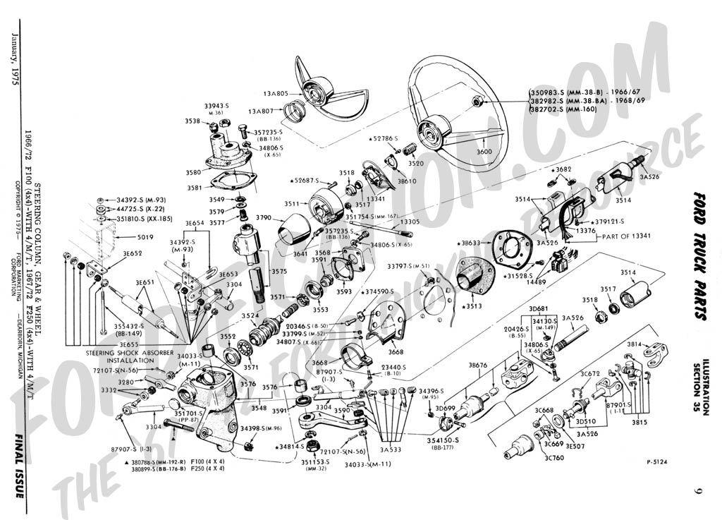 Steering 350 Column Diagram Ford F