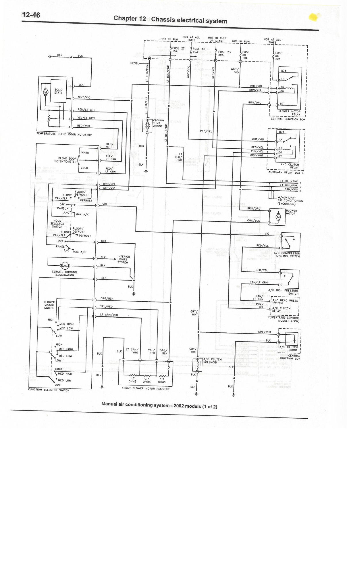 Complete Excursion Wiring Diagrams So Far