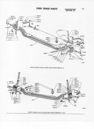 1950 f1 Parts Diagram  Shock Pins  Ford Truck