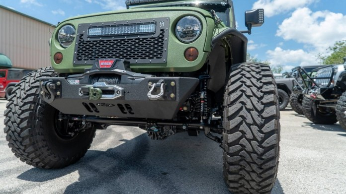 bruiser conversions made a v-8-powered jeep wrangler 6x6