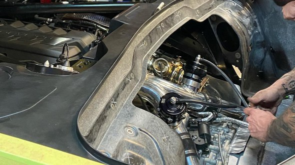2020 Chevrolet Corvette Stingray undergoes twin-turbo conversion at Hennessey