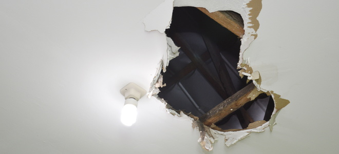 How To Patch A Drywall Ceiling Doityourself Com