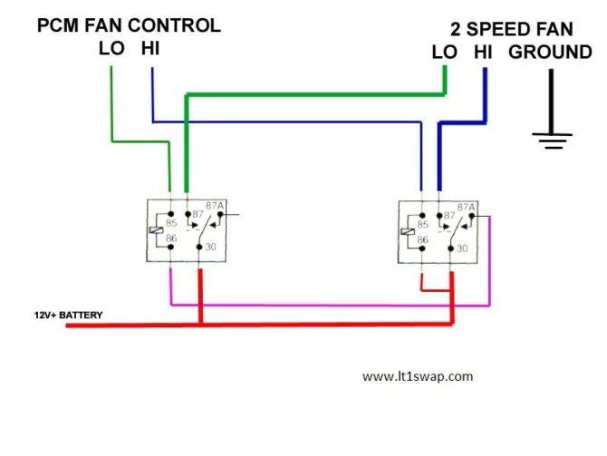 ls swap electric fan wiring  ls1tech  camaro and firebird