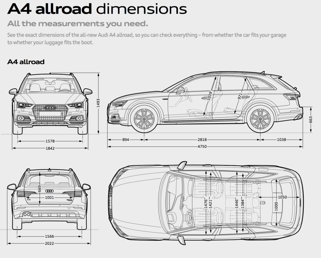 Audi A4 Avant Interior Dimensions | www.indiepedia.org