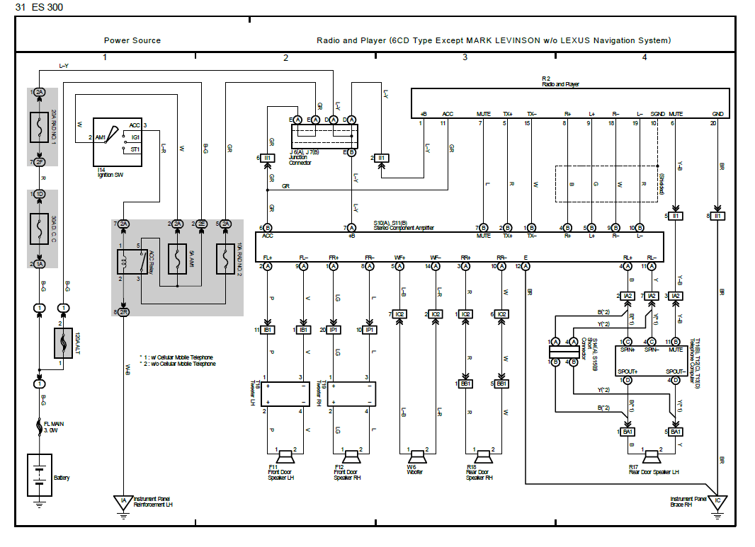 97 Lexus Es300 Radio Wiring Diagram