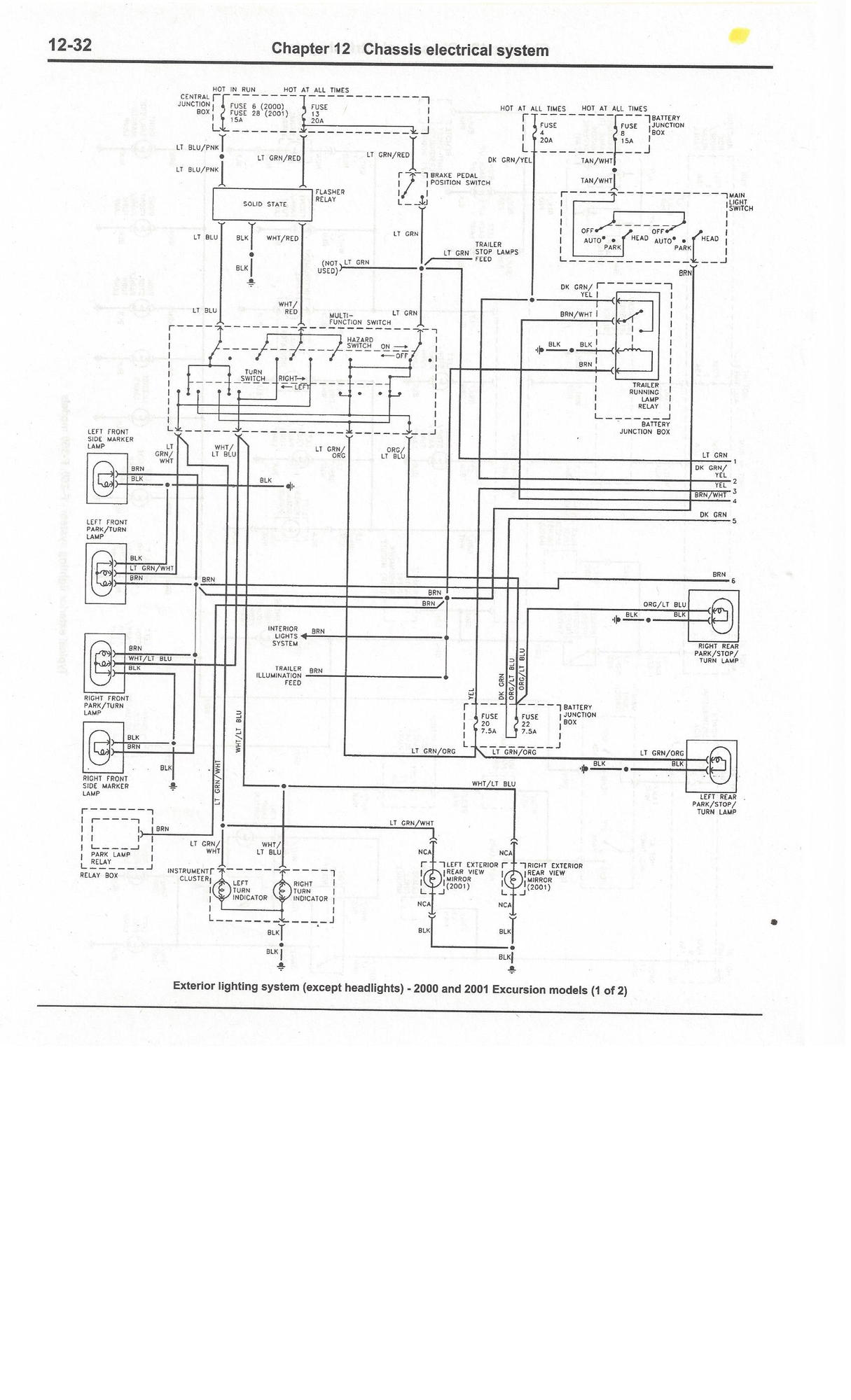 02 Ford Headlight Wiring Diagram
