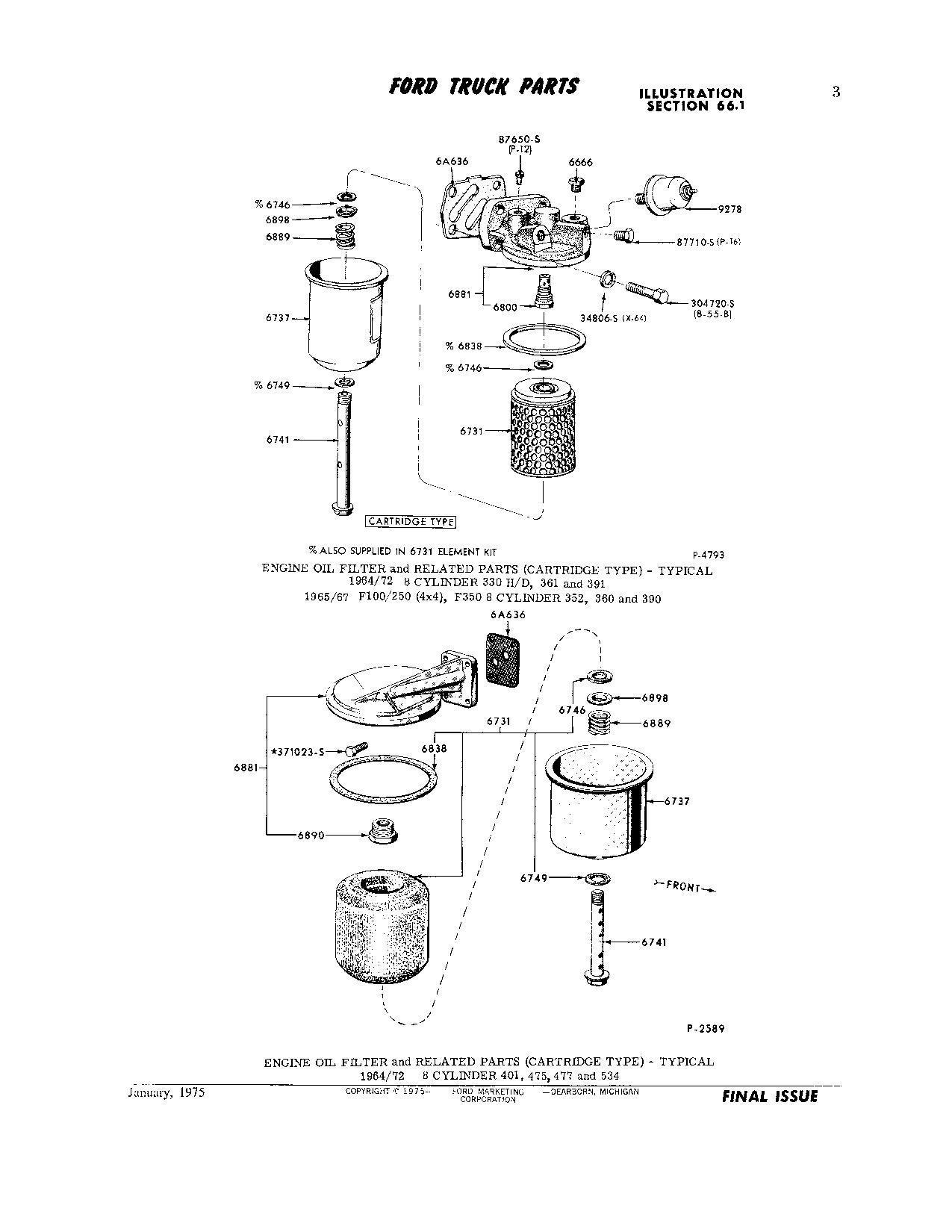 477 534 Super Duty Engine Oil Filter Housing Gasket