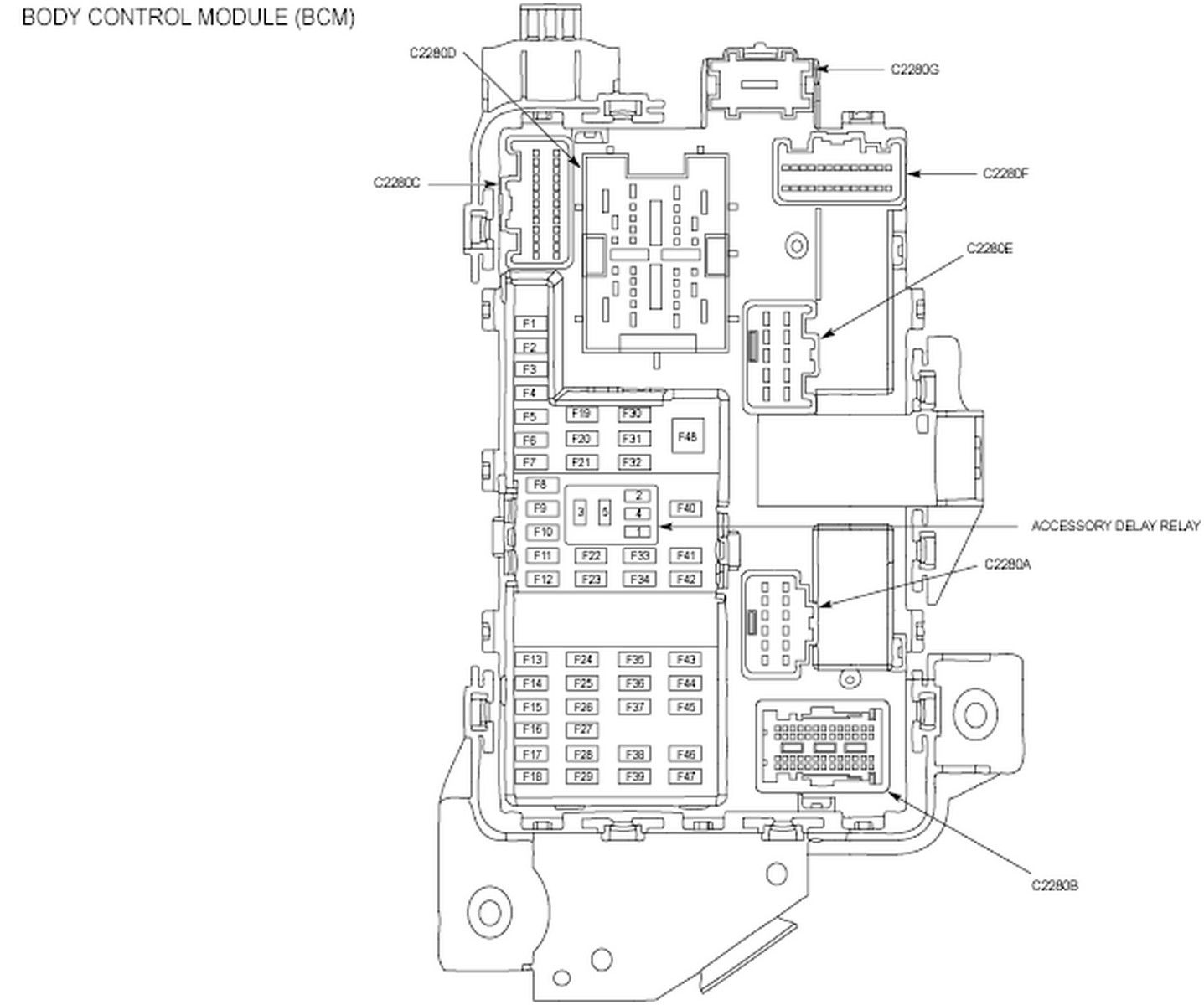 1999 Ford F 150 Cab Fuse Diagram