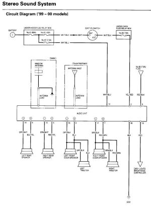 9900 Civic OEM radio wiring diagram  HondaTech  Honda Forum Discussion