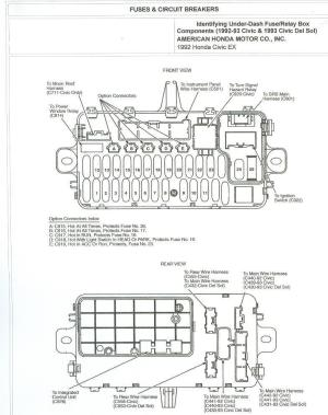 1993 Accord Ex 4dr under dash fuse diagram  HondaTech