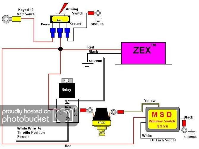 msd nitrous wiring diagrams  nos nitrous relay wiring
